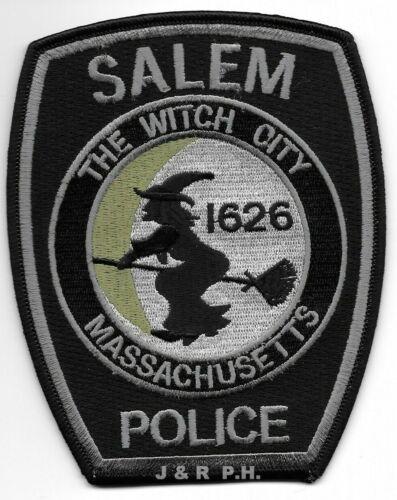 "Salem, Massachusetts ""Witch City"" subdued (4"" x 5"") shoulder police patch (fire)"