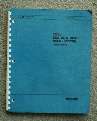 Tektronix 2230 Original User Manual Paper Manual Part 070-4998-01