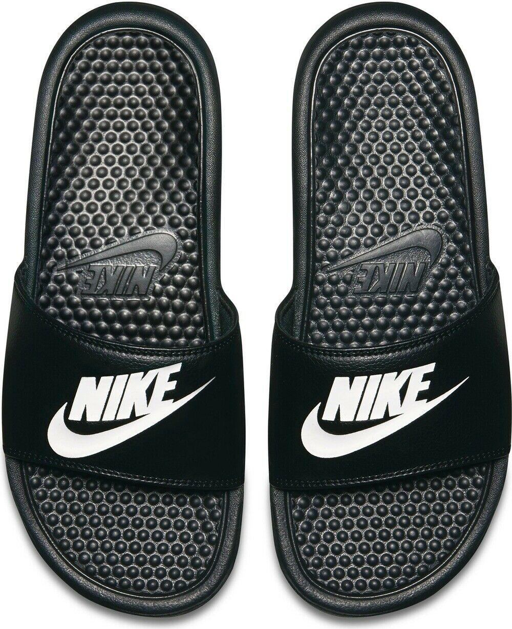 Nike Badeschuhe Benassi (343880-090) in schwarz weiß      NEU!!!