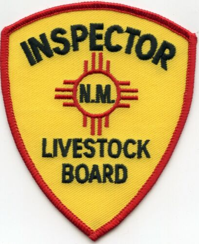NEW MEXICO NM STATE LIVESTOCK BOARD INSPECTOR POLICE PATCH