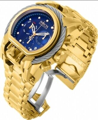 Invicta Reserve 18k Gold Plated Bolt Zeus Magnum 2 Swiss Mvmts Huge Cable Watch