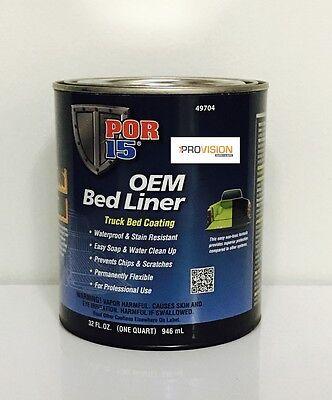 POR-15 49704 OEM BLACK BED LINER TRUCK BED COATING (QUART) (POR-15 -