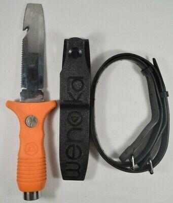 Blunt Tip Diving Knife - Wenoka 8541 Blunt Tip Diving Knife with Sheath Buckle Straps Japan