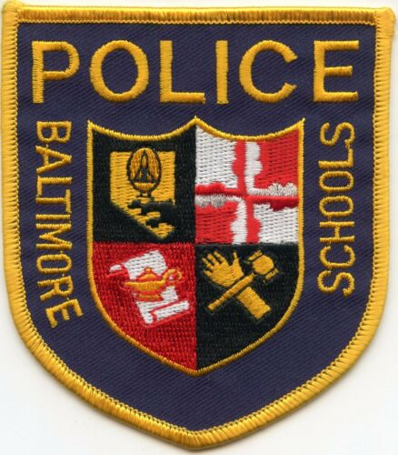 BALTIMORE MARYLAND MD PUBLIC SCHOOLS school POLICE PATCH