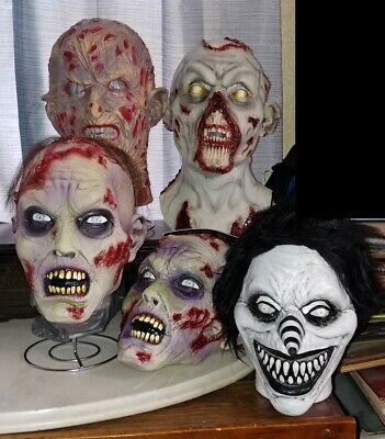 Latex Halloween 9 Mask Lot - Distortions, Ghoulish, New/Used, No Tots or Myers (Halloween 9 Mask)