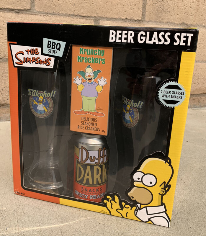 Very rare simpsons beer glass set