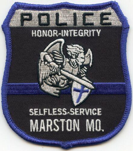 MARSTON MISSOURI MO Thin Blue Line POLICE PATCH