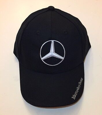 Nib Mercedes Benz With Logo Black Hat Cap Adjustable