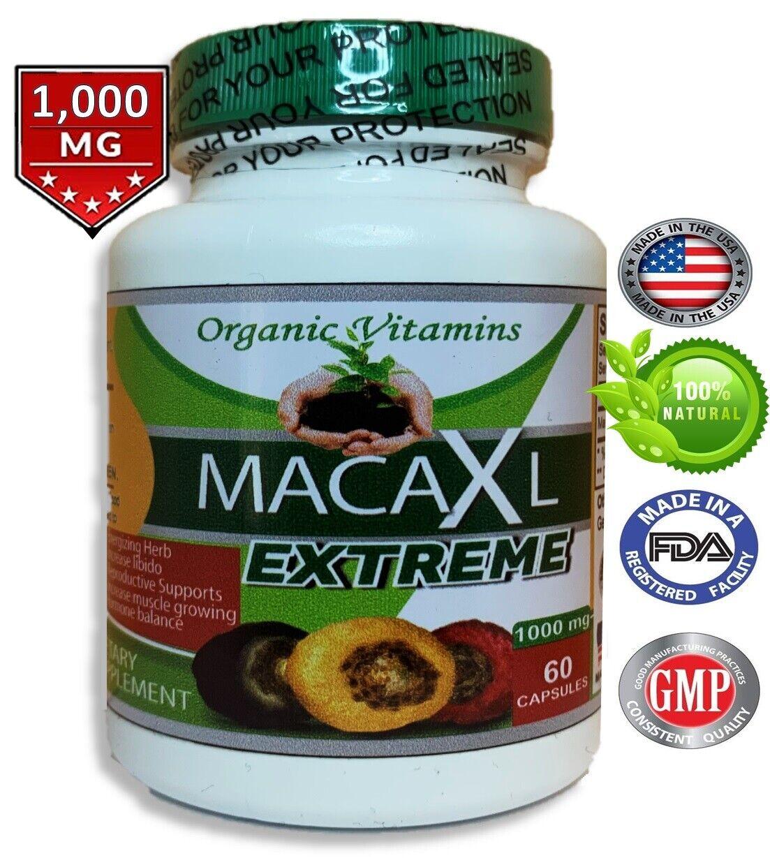 Organic maca root black red yellow 120 capsules peruvian maca extreme extract  5