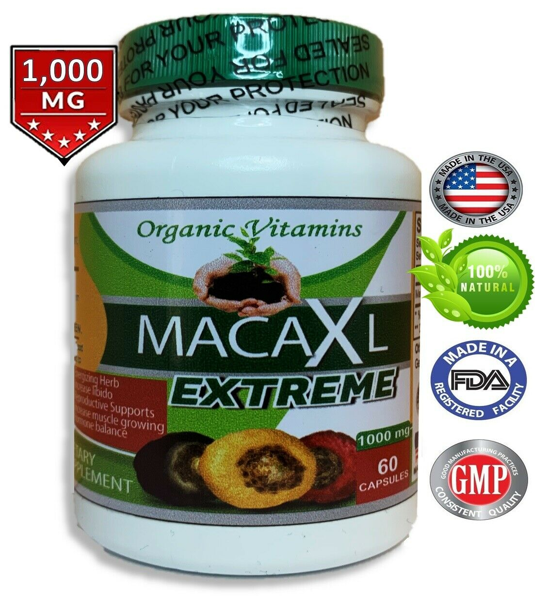 MACA ROOT 1000 MG MALE ENHANCER POTENCY SEXUAL ENHANCEMENT POWER ENERGY PILLS  1