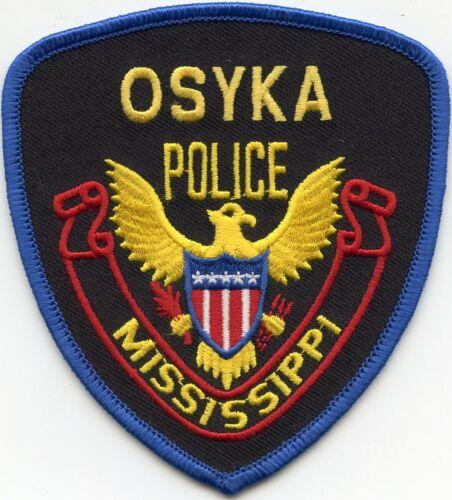 OSYKA MISSISSIPPI MS POLICE PATCH
