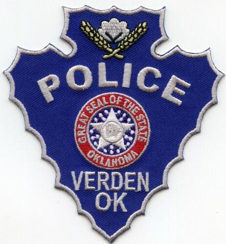 VERDEN OKLAHOMA OK Indian Arrowhead Shaped STYLE #B POLICE PATCH