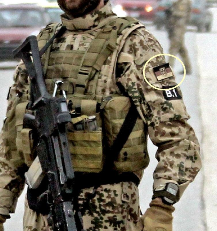 KANDAHAR WHACKER© NATO ISAF JSOC BUNDESWEHR KSK velkrö SSI: Subdued German Flag