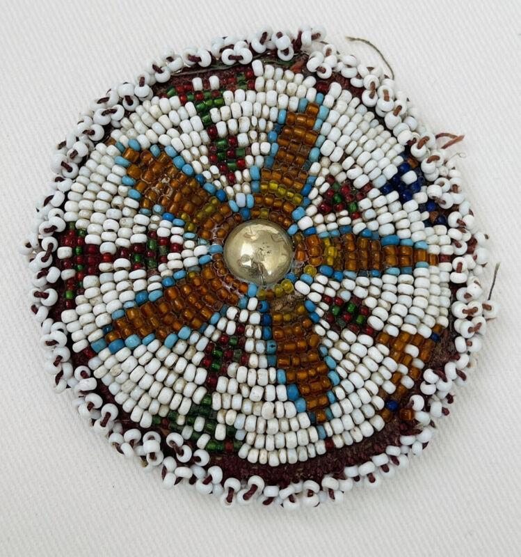 Vintage Native American Cheyenne Beaded Medallion