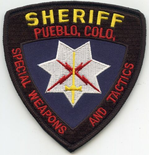 PUEBLO COUNTY COLORADO CO Special Weapons And Tactics SWAT SHERIFF POLICE PATCH