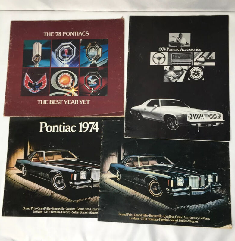 Vintage Pontiac Brochures 1974