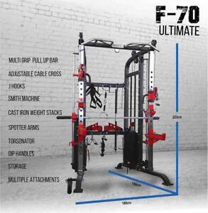 COMPLETE FUNCTIONAL TRAINER F70 & FID300 FOLDABLE BENCH