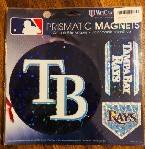 "Tampa Bay Rays MLB Prismatic Magnet Sheet Hologram 11x11"" 3"