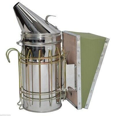 Bee Hive Smoker Honey Bees Heat Protection Smoke Sheild Hook Mount Steel 11