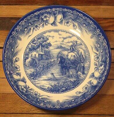 Royal Stafford England Blue Hayride Dog Fruit Serving Salad Bowl Set of 4 - NEW