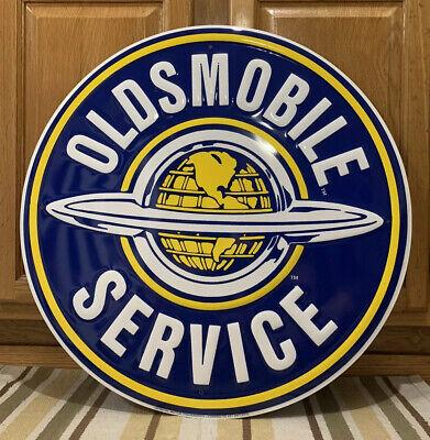 Oldsmobile Service Metal Sign Garage Vintage Style Wall Decor Bar Pub Gasoline