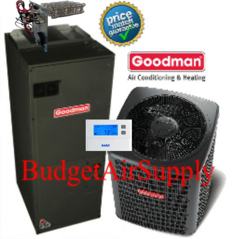 5 Ton 13 Seer 410a Goodman Complete A/c System Gsx13060+aruf60d14+tstat+heat++