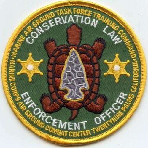 USMC MARINE CORPS COMBAT CENTER CALIFORNIA CA CONSERVATION MILITARY POLICE PATCH
