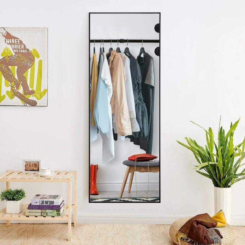 Full Length Mirror Bedroom Floor Mirror Free Standing Hanging Large Black Mirror