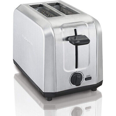 Hamilton Seashore 22910 Brushed Stainless Steel 2 Slice Countertop Toaster, Silver