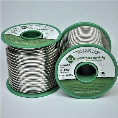 Sn100c Lead Free Wire Solder - Solid Core .125 Dia. 1 Lb.