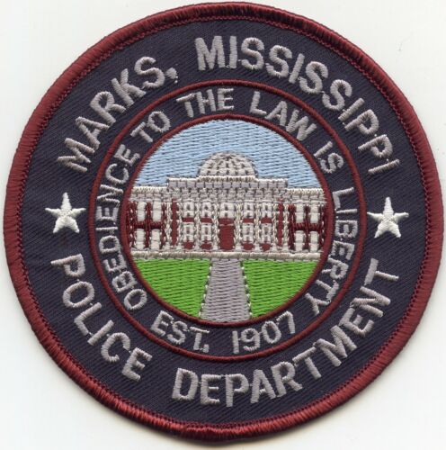 MARKS MISSISSIPPI MS Obedience To The Law Is Liberty POLICE PATCH