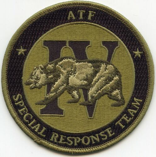 ATF IV SPECIAL RESPONSE TEAM SRT SWAT Subdued Green POLICE PATCH