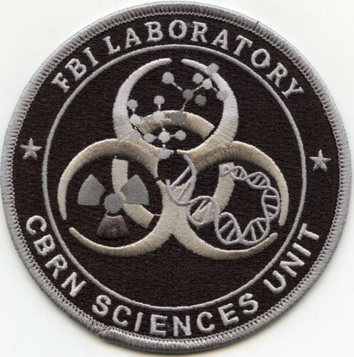 FBI LAB CHEMICAL BIOLOGICAL RADIOLOGICAL NUCLEAR CBRN subdued gray POLICE PATCH