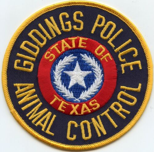 GIDDINGS TEXAS TX ANIMAL CONTROL POLICE PATCH