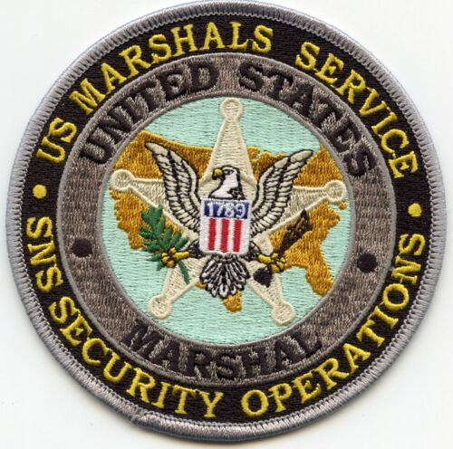 UNITED STATES MARSHAL WASHINGTON DC SNS SECURITY OPS round colorful POLICE PATCH