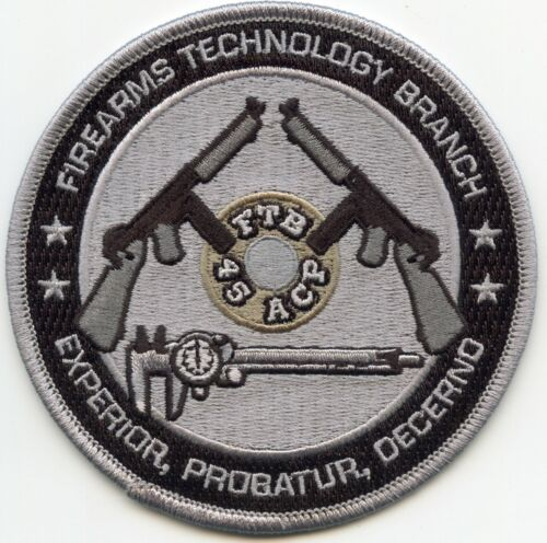 ATF FIREARMS TECHNOLOGY BRANCH Martinsburg WEST VIRGINIA Gray POLICE PATCH