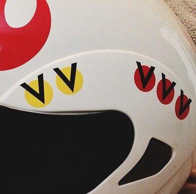 Home Decoration - Luke Skywalker REBEL Helmet Decal Sticker Star Wars RED and YELLOW