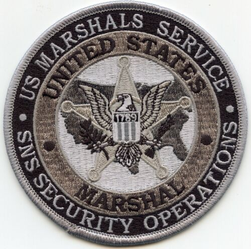 UNITED STATES MARSHAL WASHINGTON DC SNS SECURITY OPS subdued gray POLICE PATCH