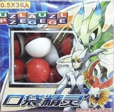36pcs Box Lot Small Mega Monsters Pokemon Pokeball Model Toy Fun Gift New