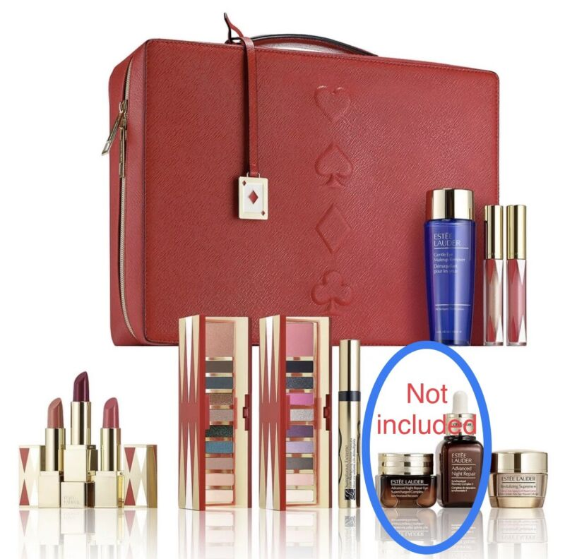 Part Of Estee Lauder Blockbuster Holiday Make Up Gift Set Train Case COOL