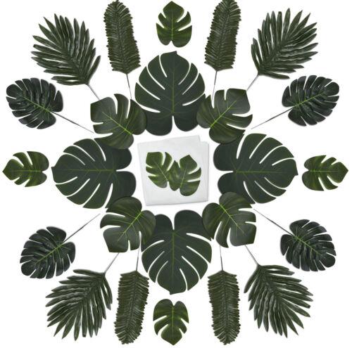 60 Piece Palm Leaf Set - Artificial Palm Leaves/Luau Decoration/Jungle/Tropical