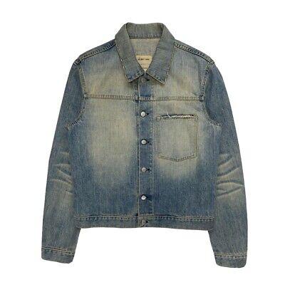 Helmut Lang 2004 Vintage Sanded Broken 1 Pocket Denim Jacket Archive Jean