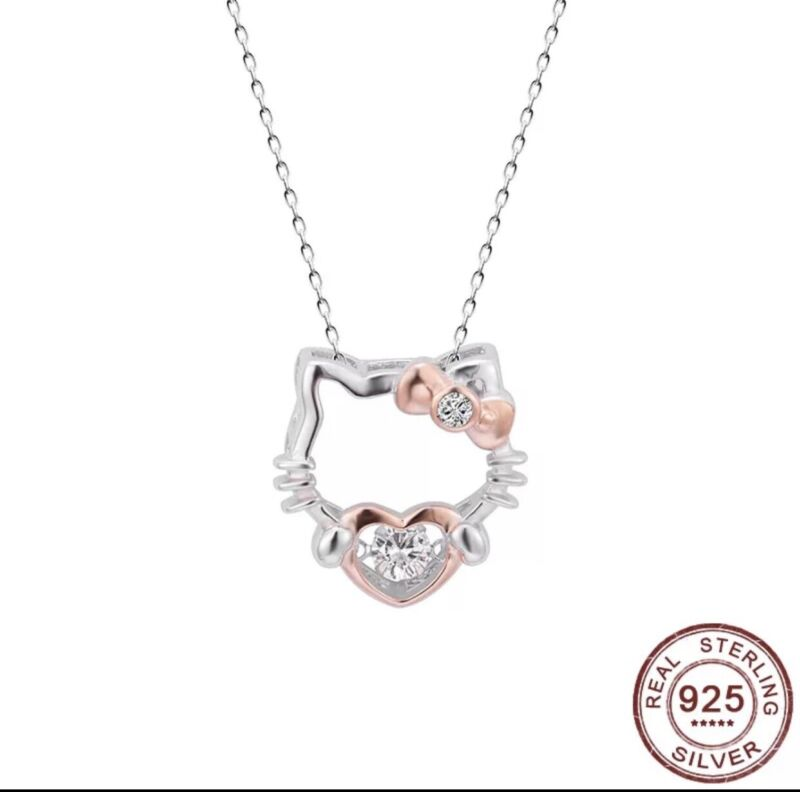 Hello Kitty Sterling Silver Necklace