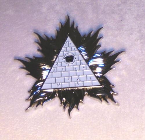 Secret Occult Society God RA Badge Pin High Priest NWO Illuminati Pyramid Medal