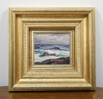 Fuller Malerei (Original ALFRED FULLER Signed Oil Painting. Ocean Wave Rocks Maine Artist)