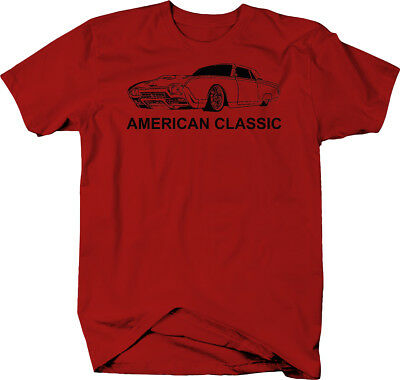 American Classic Ford Thunderbird T-Bird Vintage Car  Color T-Shirt ()