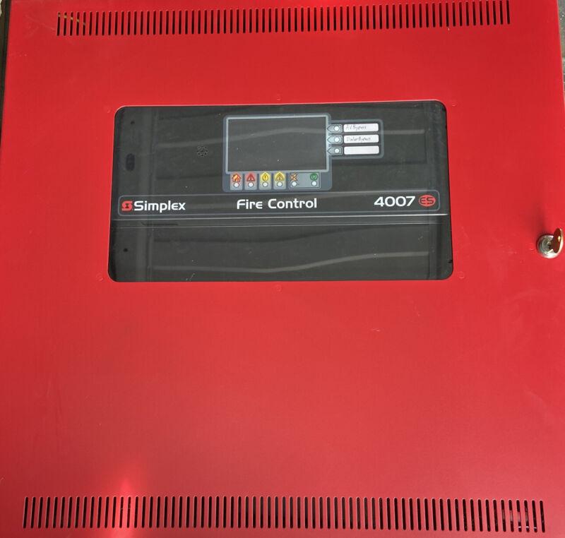 Simplex 4007-9201 4007ES Panel. Red Enclosure.