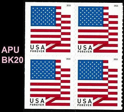 US Flag forever block APU (4 stamps from booklet 20) MNH 2018