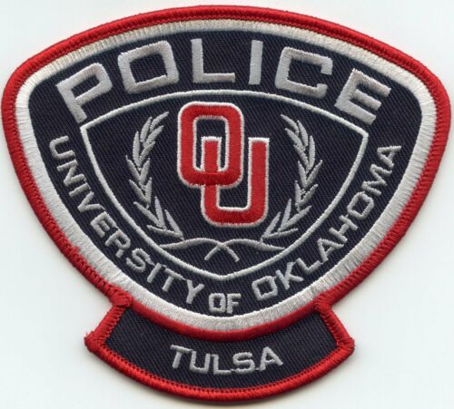 UNIVERSITY OF OKLAHOMA OK TULSA CAMPUS POLICE PATCH