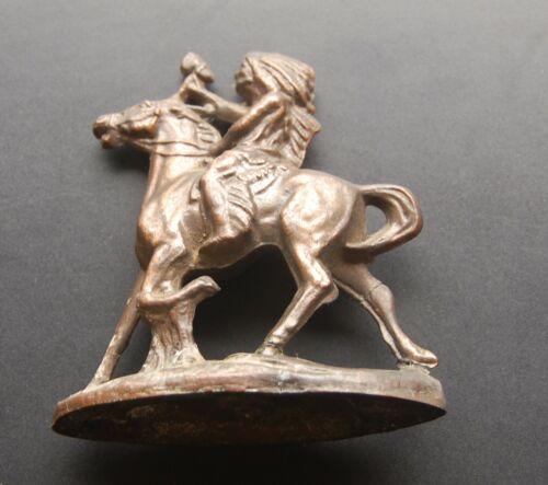 Vintage Starved Rock State Park Oglesby Illinois Brass Indian Figurine
